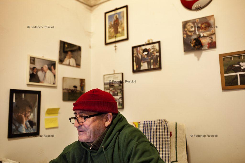 Rome, Italy. January 7, 2014. Giorgio Pucciatti trainer and a racing day in Capannelle. ## Roma, Italia. 7 Gennaio 2014. Giorgio Pucciatti allenatore e una giornata di corse a Capannelle.