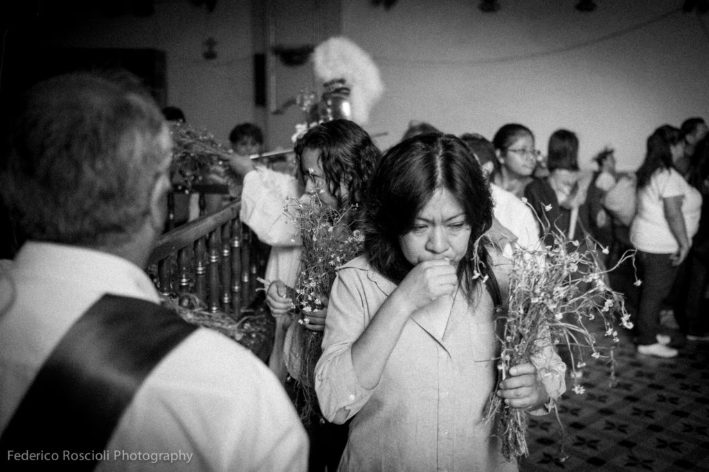 Mexico City, Mexico. April 3, 2015. The Via Crucis procession in Iztapalapa.