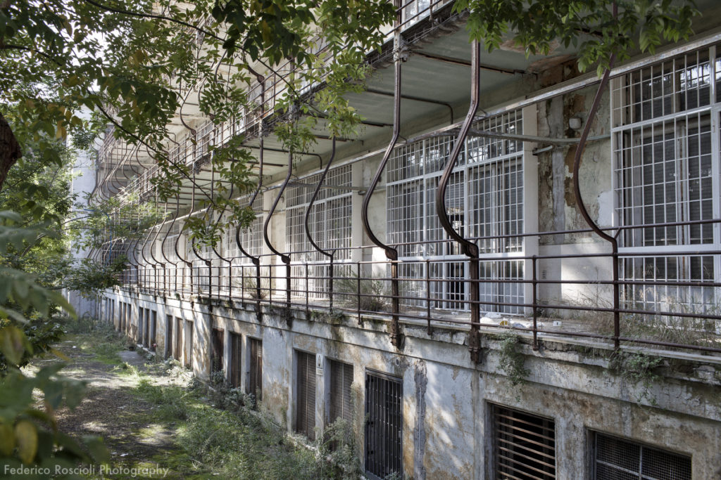 Rome, Italy. November 11, 2015. Forlanini hospital was built in 1934, it was a sanatorium for people affected by tuberculosis. It was completely autonomous and it could be isolated from the rest of the world for one year without loosing any functionality. In the '80 became a vanguard hospital and since the 2008 started its disposal.